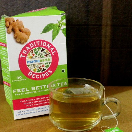 Mamaearth Traditional Recipes Feel Better Tea Review
