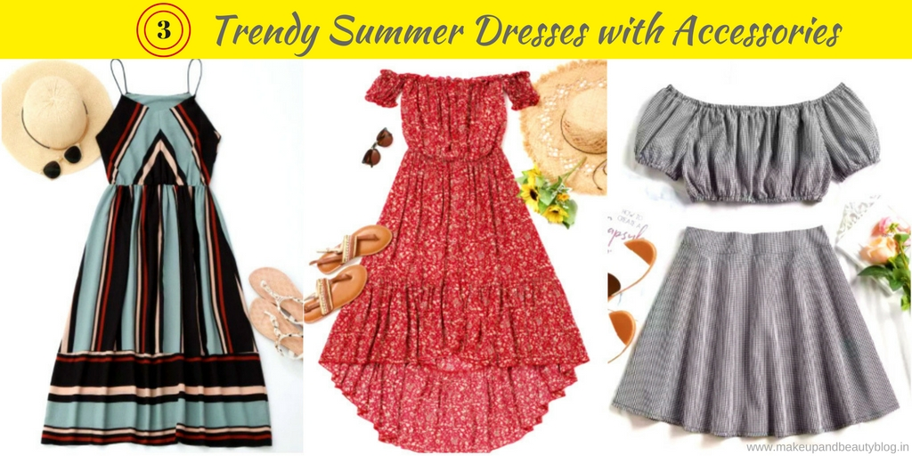 6975c369e9 3 Trendy Summer Dresses with Accessories - Makeup Review And Beauty Blog