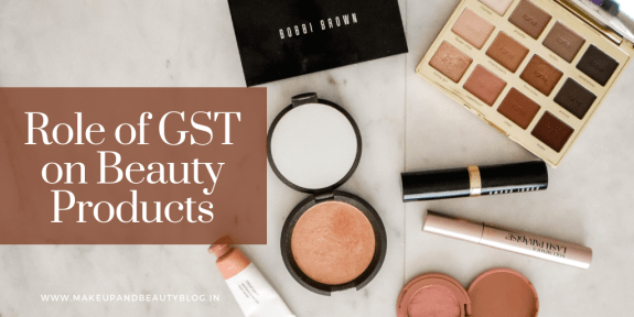 Role of GST on Beauty Products