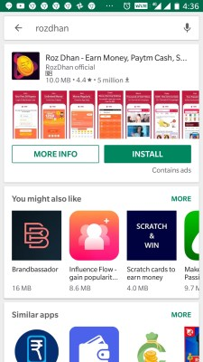 Earn Rs. 200 Per Day Online Through Android Mobile Apps RozDhan App