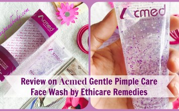 Review on Acmed Gentle pimple care Face Wash by Ethicare Remedies