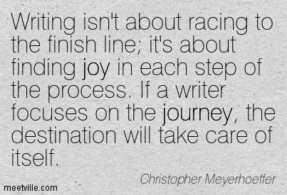 Just Write for the Joy of Writing