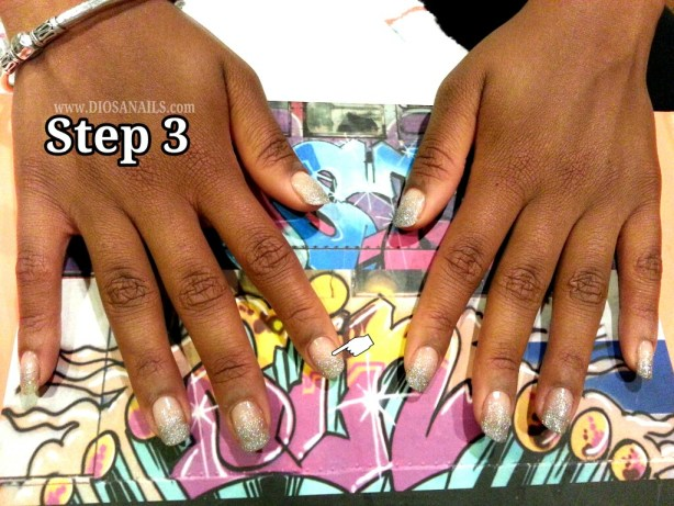 New Years Eve Party Nails Step 3