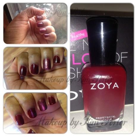 oya 'Dakota nail polish with 'Gloria'