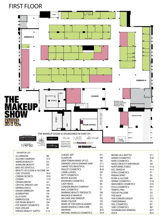 The Makeup Show NYC Floor Plan