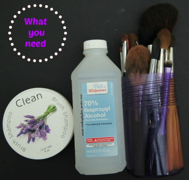 how to clean out your makeup brushes