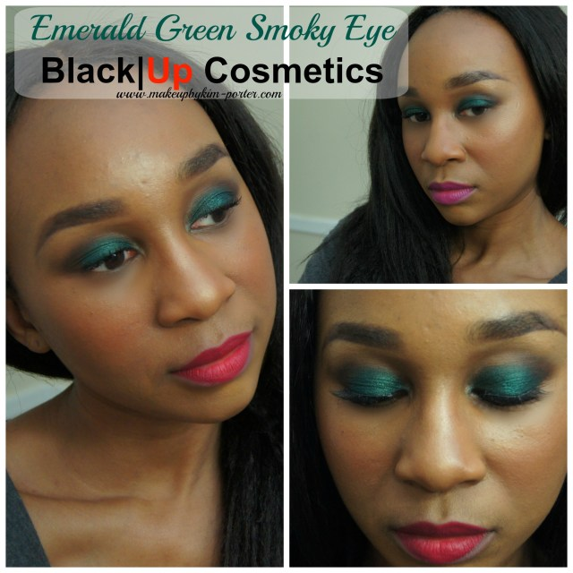 Emerald Green Smoky Eye Black|Up Cosmetics
