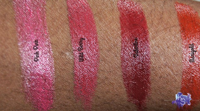 Elizabeth Arden's Beautiful Color Moisturizing Lipstick Swatches brown skin
