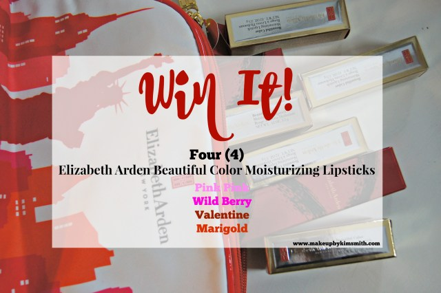 Elizabeth Arden's Beautiful Color Moisturizing Lipstick Giveaway