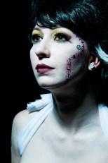 Recreation of Rick Baker's Bride of Frankenstein, Model: Mac Beauvais, Wig: Chrissy Lynn, Makeup: Me, Photographer: Slevin Mors