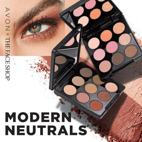 AVON The Face Shop Modern Neutrals Palettes