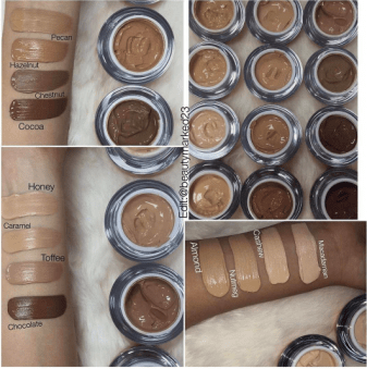 LA Splash UD Cream Foundation Swatches