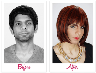 Male To Female Makeup Application