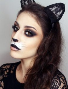 Makeup cat with an emphasis on the eyes