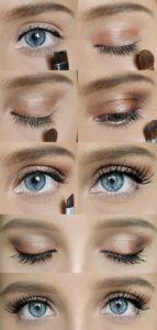 Lição passo-a-passo para maquiagem dos olhos em casa