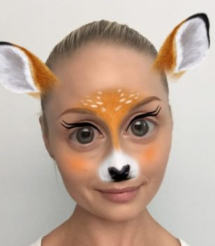 916261b7ef1 This Snapchat filter gave us the inspiration for the perfect last-minute  Halloween makeup
