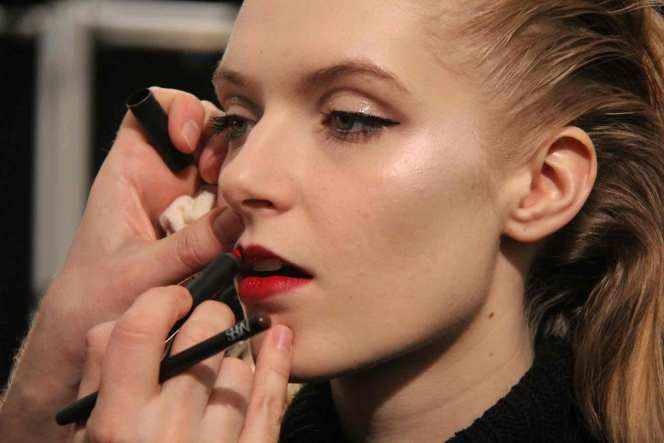 NARS Makeup for #NYFW at Carmen Marc Valvo 2013