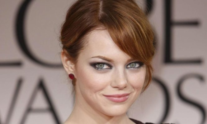 Emma Stone at Golden Globe Awards