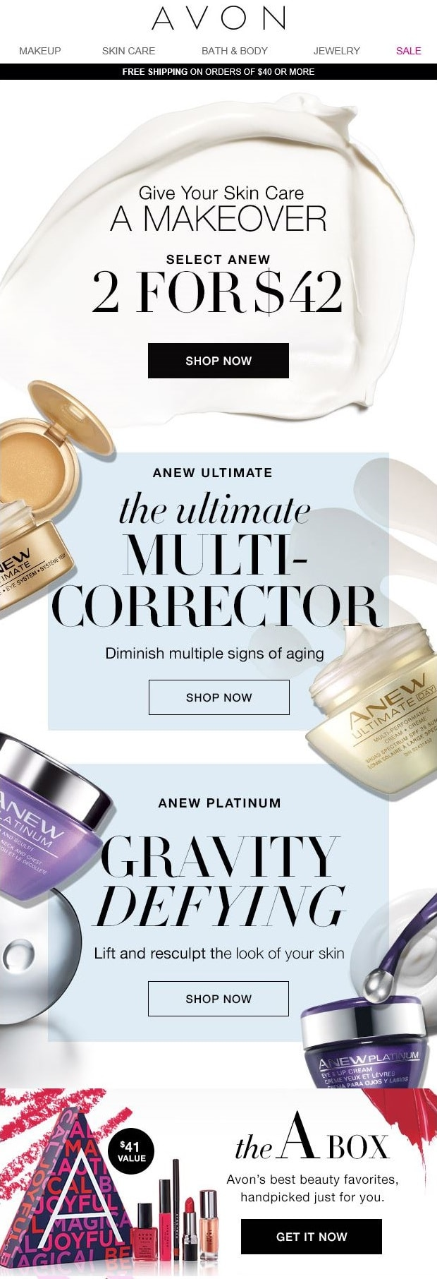 Anew Platinum & Anew Ultimate - buy 2 for $42