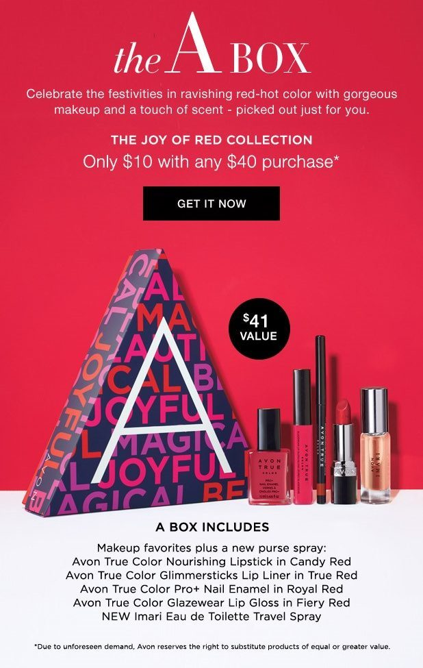 beauty of giving - avon a box - avon current campaign