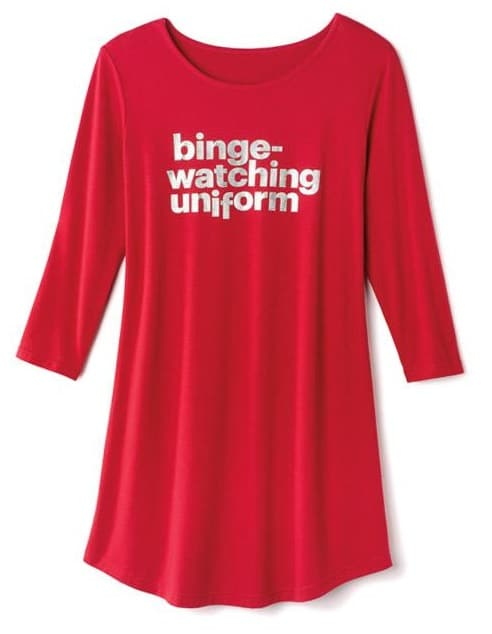 Joyful Beautiful Binge-Watching Sleepshirt - The Ultimate Gift Guide