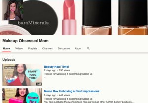 Makeup Obsessed Mom youtube channel