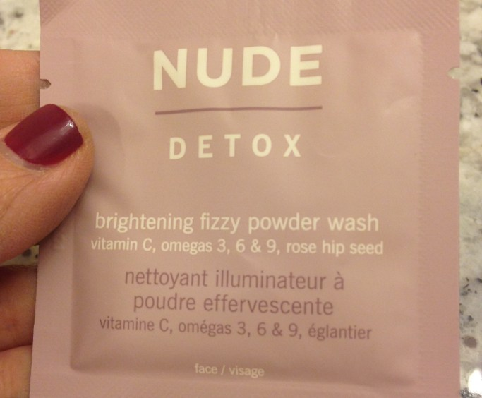 Nude Detox brightening fizzy powder wash review