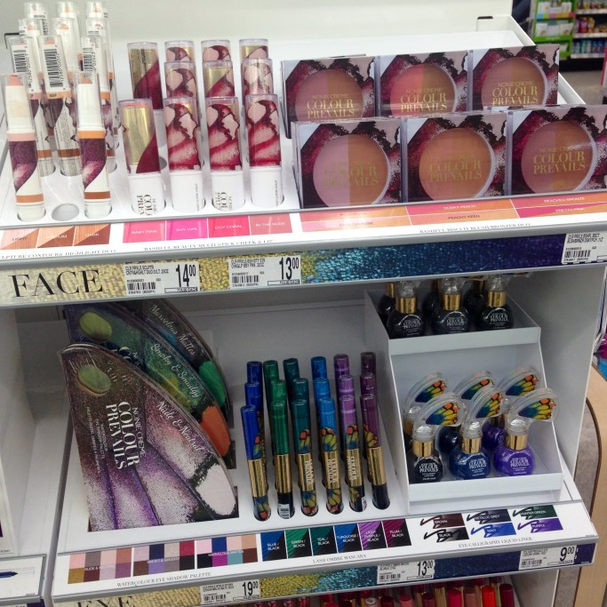 Nonie Creme Colour Prevails collection at Walgreen's