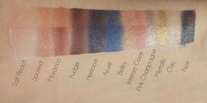 Anastasia Beverly Hills eyeshadow palette swatches