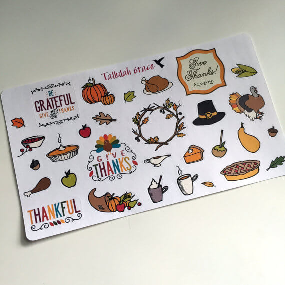 Tallulah Grace planner stickers