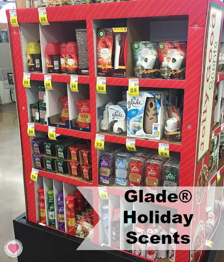 Glade winter collection display