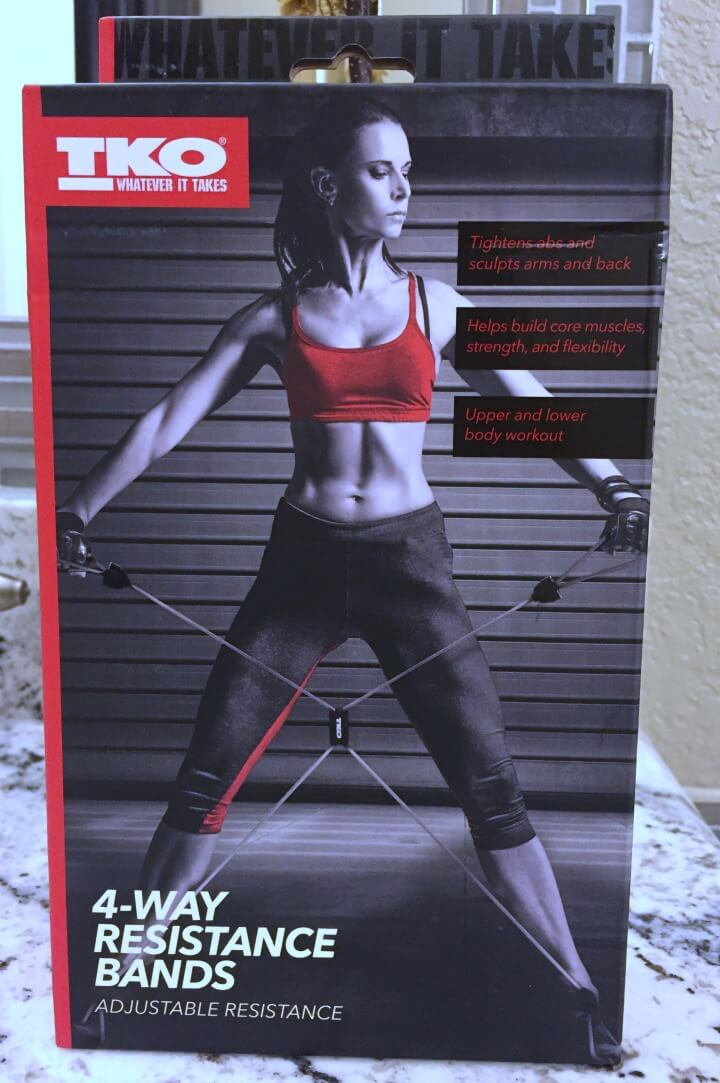 4 way resistance bands workout