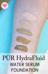 swatches of Pur hydrafluid