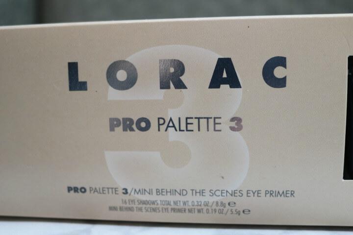 Lorac eyeshadow palette