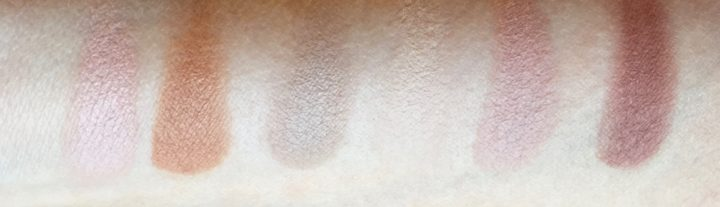 antiaging eyeshadow swatches