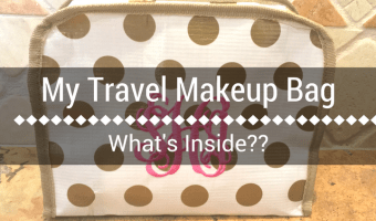 My Vacation Makeup Travel Bag