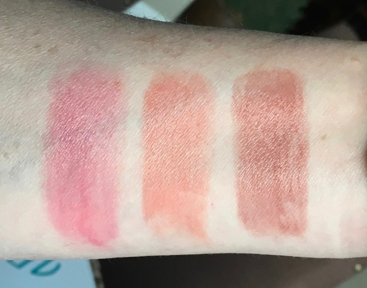 Chapstick tint swatches