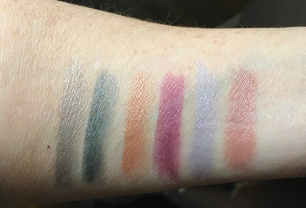 metallic lipstick swatches