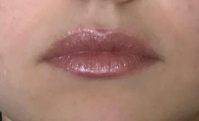 pale rose metallic lipstick