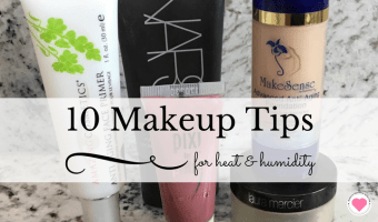makeup tips heat humidity