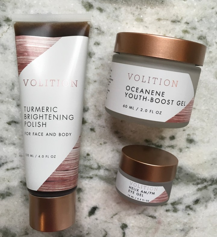 Volition skincare products