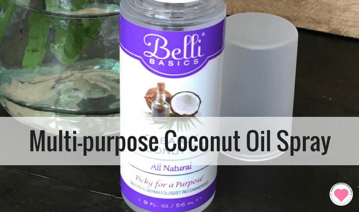 Belli Beauty coconut oil spray