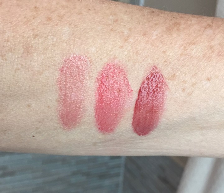 sheer cheek gel swatches