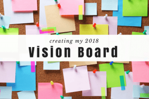 Happy New Year vision board
