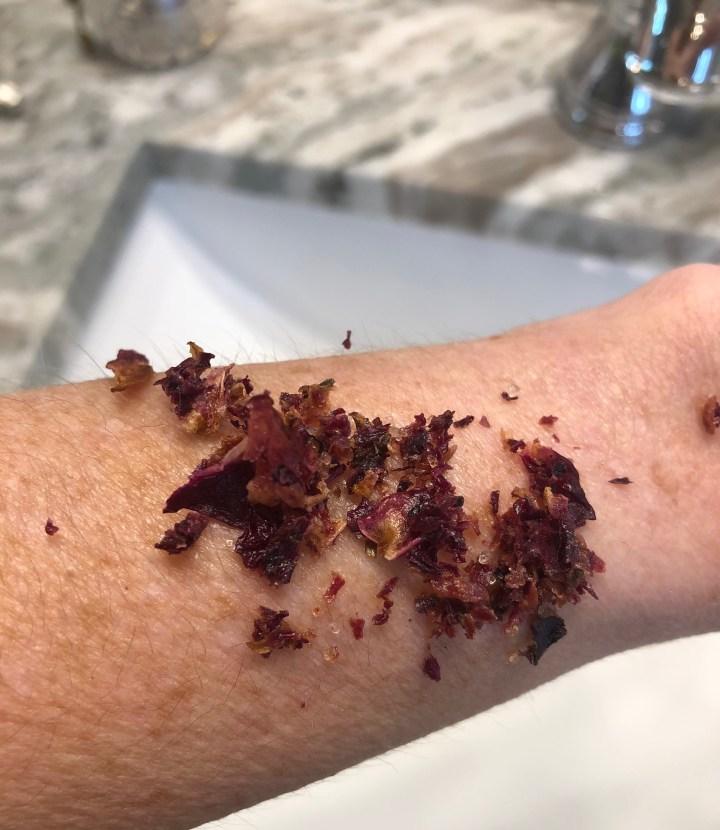 Rose body scrub