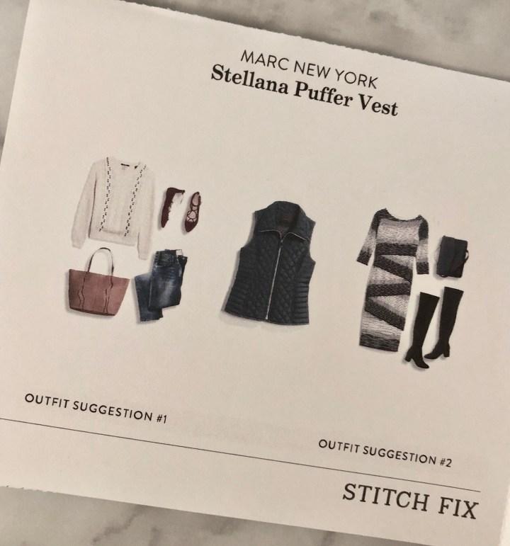 Stitch Fix styling suggestion card