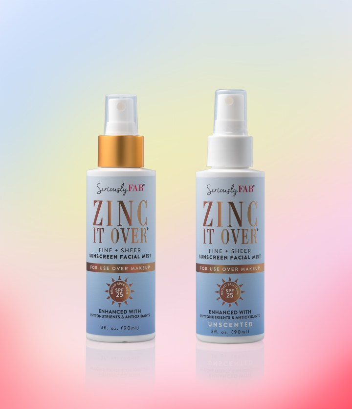 Zinc It Over sunscreen facial mist