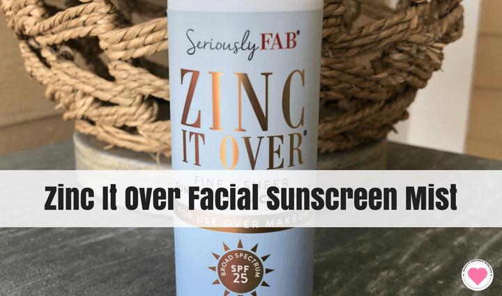 Zinc It Over facial sunscreen mist