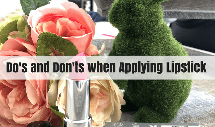 don's and don'ts when applying lipstick