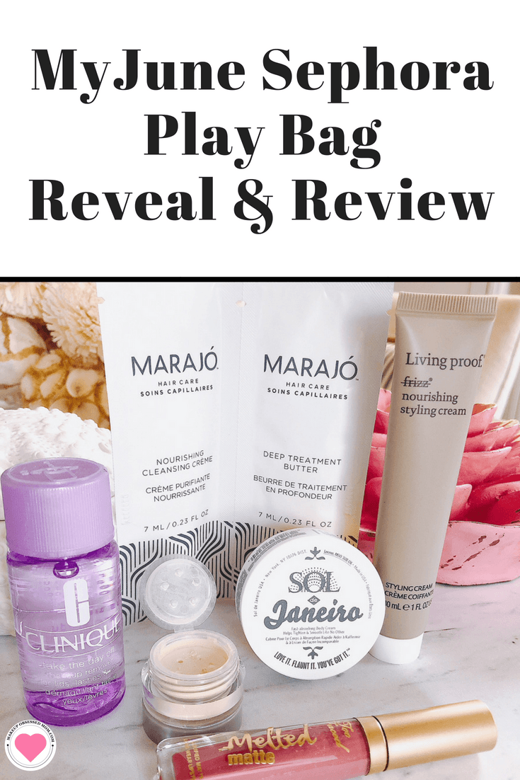 The June, 2018 Sephora Play Beauty Bag has the theme Summer Nights. See the contents on makeupobsessedmom.com